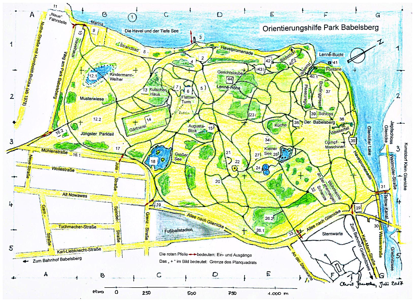 Historische Karte Potsdam.Der Park Babelsberg Bei Potsdam Ein Park Auf Dem Wege Ein